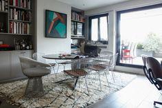 Famille parisienne, Paris, déco, décor, design, Florence Knoll, fragments-paris, Warren Platner, harry Bertoia