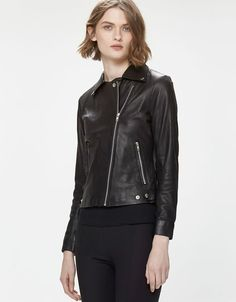 Frankie Leather Jacket Black