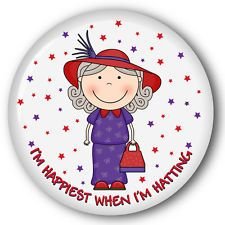 "PURSE MIRROR & ORGANZA BAG HAPPIEST WHEN HATTING RED HAT LADIES OF SOCIETY 3"""