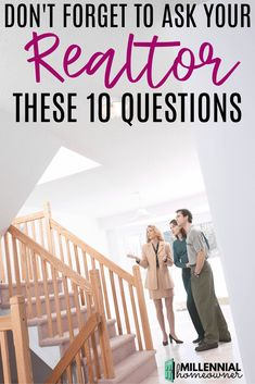 Finding a good realtor is tricky. Make sure you ask all of these questions and have the facts when you're looking for a good real estate agent. Questions To Ask Realtor, Fun Questions To Ask, This Or That Questions, Home Buying Tips, Buying Your First Home, New Home Buyer, First Time Home Buyers, Real Estate Buyers, Selling Real Estate