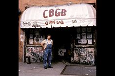 """CBGB's with owner Hilly Kristal. Ahh, what tales there are to tell. I spent a great deal of my here. I met some amazing people. """"This ain't no Mudd Club or CBGB's. Alan Rickman Movies, 70s Punk, Billboard Magazine, Downtown New York, My Generation, Club Kids, Music Industry, Music Is Life, Punk Rock"""