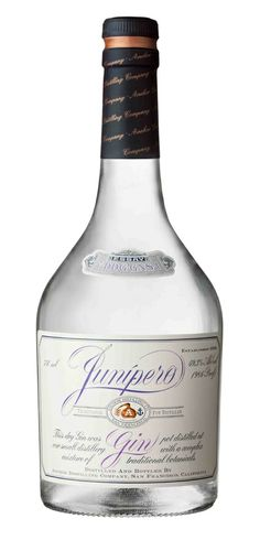 """Junipero Gin by Anchor Distilling Company.""""Genevieve"""" Genever Style."""