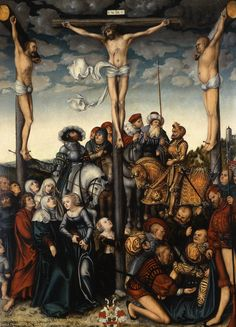Lucas Cranach the Elder (c. 1472 – 16 October The Crucifixion [Indianapolis Museum of Art - Oil on panel, x cm] Catholic Art, Religious Art, Figure Painting, Painting & Drawing, Martin Luther, La Passion Du Christ, Salvator Mundi, Crucifixion Of Jesus, Crucifixion Painting