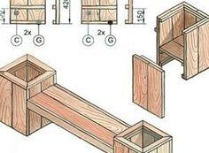 tuinbank Deck Planters, Bar Cart Decor, Shelves, Cool Stuff, Diy, Furniture, Home Decor, Garden, Blog