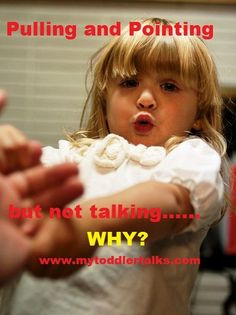Why Does My Toddler Pull and Point but Not Talk? #speechtherapy  http://www.speechtherapyfun.com/