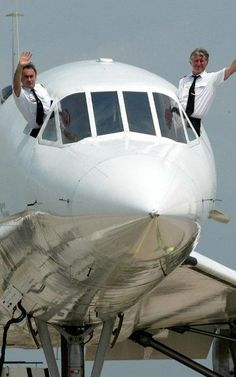 One of the last Air France Concorde crew.
