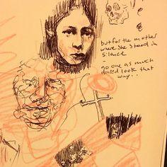 A tribute to requiem by Anna Akhmatova. #annaakhmatova #draw #drawing #artist #poetry