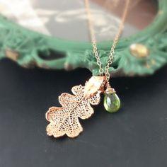 By Emily Gold Oak Leaf Earrings h04qD2y6