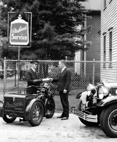 The Versatile Indian Motorcycle: Indian also produced a three wheeled delivery vehicle called the Dispatch Tow, which was very similar to Harley's Servi-Car.