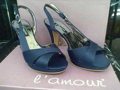 L'amour - Sandalo raso blu