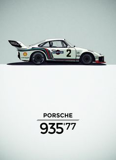 Porsche 935 Illustration, by Born.