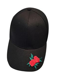 6cdee5e23d8 Unisex Applique Floral Rose Girl Hat Sun-proof Cap Snapback Adjustable Flat  Hat For Camping Hiking Sport Hat