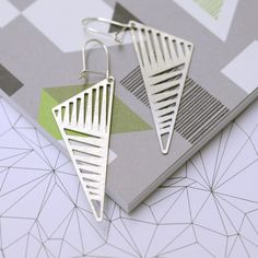 Dash art deco geometric earrings.