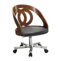 Curve Walnut Veneer Office Chair PC606