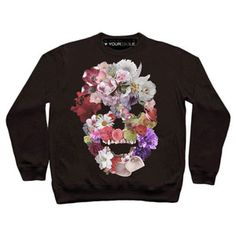 Flowerskull Sweatshirt Black, £29, now featured on Fab.