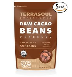 Terrasoul Superfoods Raw Criollo Cacao Beans (Organic), 5 Pounds *** Learn more by visiting the image link.