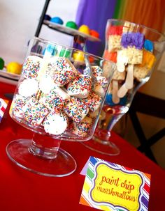 These are adorable! DIY Art Party Paint Can Favors, just ...