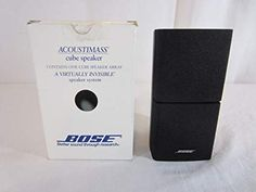 Bose Acoustimass Direct/Reflecting Speaker Black Review Stereo Headphones, Wireless Speakers, Bose, Satellite Speakers, Home Theater Speakers, Speaker System, Black, Detail, Amazon