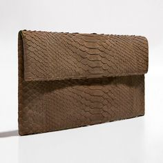 Chocolate brown python clutch by Verinosa More colors www.verinosa.ee