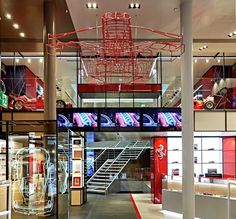 Ferrari's New Flagship Store In Milan Entertains With F1 Simulators