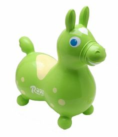 Inflatable Rody Horse Childrens Ride-On Rocking Horse: Color is Lime Green $40.71