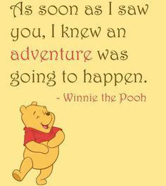 The Best Winnie The Pooh Quotes.Winnie the Pooh is a classic children's book that has remained a favorite for many even to this day. Milne and published in is about a cute bear and her friends. Disney Love Quotes, Winnie The Pooh Quotes, Winnie The Pooh Friends, Disney Winnie The Pooh, Disney Poems, Great Quotes, Me Quotes, Inspirational Quotes, Baby Quotes