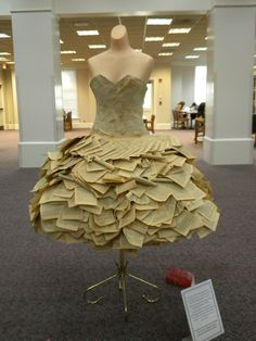 Texas Woman's University Libraries, Model made out of paperback books.