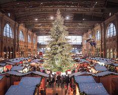 Swarovski Christmas tree in Zurich, Switzerland