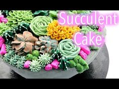 How to make Flower cake. #1 (full process) by g.g cakraft - YouTube