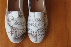 Custom LOTR Canvas Shoes: Middle Earth Map by PoppyBouquet on Etsy