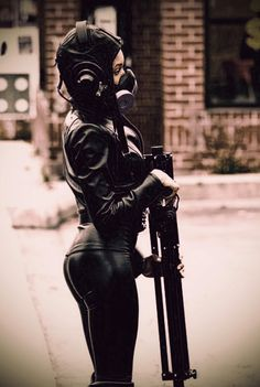 Gas mask - so hot.