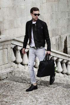 MenStyle1- Men's Style Blog - Black and White fashion FOLLOW for more...