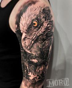 Eagle Tattoo Forearm, Forest Forearm Tattoo, Eagle Shoulder Tattoo, Eagle Head Tattoo, Lion Head Tattoos, Forest Tattoos, Mens Shoulder Tattoo, Eagle Tattoos, Wolf Tattoos