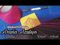 (17) Nueva Araña de 6 patas: Azulejo Bolillotutorial Raquel M. Adsuar Bolillotuber - YouTube
