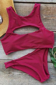 Cupshe Hot As Hell Cutout Tank Bikini Set