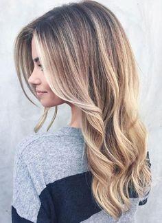 Long Hair Balayage Natural Blonde Balayage