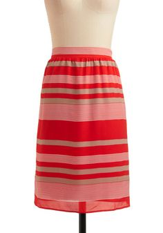 stripe skirt at modcloth
