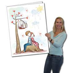 2' x 3' Giant Valentine's Day Card - Couple on Stump - Envelope Included VictoryStore http://www.amazon.com/dp/B00HAJ7FDY/ref=cm_sw_r_pi_dp_vASHwb0P34JXB