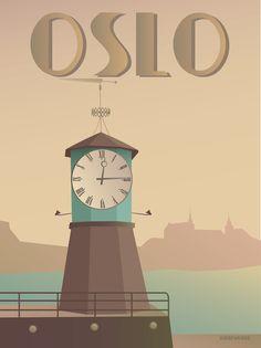 OSLO Aker Brygge - plakat