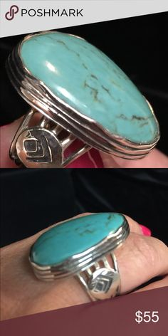 Silpada Ring Silpada Turquoise and Sterling Ring. Size 8. Silpada Jewelry Rings