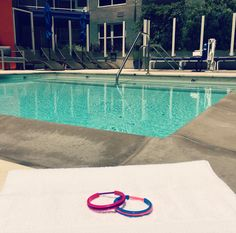 get your #cardio on with a swim on this beautiful #summer day and your hair tie will be waiting for you when you get out #bsweetbymariashireen #fitnessfriday