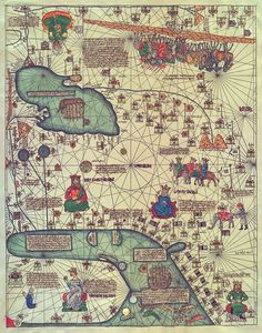 Map of East Asia, 1375