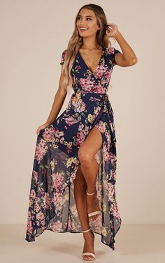 a78cc780ecc This floral maxi dress is the perfect piece for any tropical getaway! Flow  with the