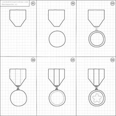 How to draw a medal.