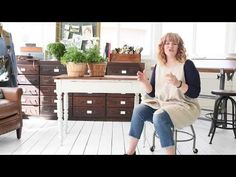 """In this video, I show the distressing process on the farmhouse table I've been working on and share tips and tricks on getting the """"chippy look"""" or avoiding it. White Painted Furniture, Painted Coffee Tables, Miss Mustard Seeds, Milk Paint, Paint Finishes, Farmhouse Table, White Wood, Creative Inspiration, Project Ideas"""