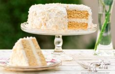 Healthy Vanilla Coconut Cake (Sugar-Free, Gluten-Free, Grain-Free)+ A Tribute to My Beautiful Mom | Healthy Indulgences