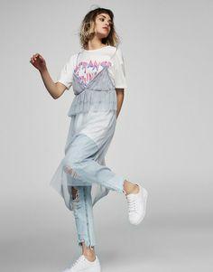 Tulle dress with frills - Dresses - Clothing - Woman - PULL&BEAR United Kingdom Urban Fashion, Diy Fashion, Ideias Fashion, Fashion Outfits, Womens Fashion, Fashion Design, Rock Street Style, Lingerie Bonita, Looks Style