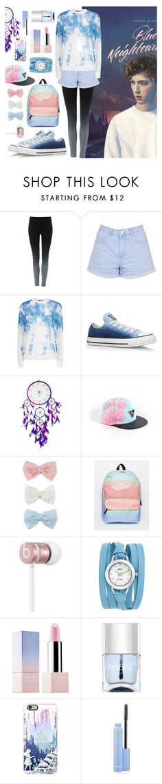 """""""Blue Neighbourhood"""" by alltimeblxw ❤ liked on Polyvore featuring Label Lab, Topshop, Alexander Wang, Converse, Decree, Vans, Beats by Dr. Dre, La Mer, Sephora Collection and Nails Inc."""