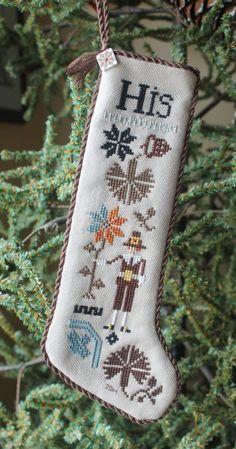 2014 Thanksgiving gift for Karen.Designer: Plum Street Samplers Design: His & Hers Thanksgiving Stocking
