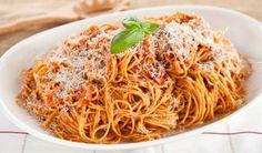 Spaghetti with Tomato Sauce & Pancetta by Stefano Faita
